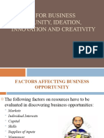 lesson 7- Search for business opportunity, ideation, innovation and creativity