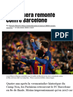 Le PSG sera remonté contre Barcelone - Libération