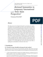 3. Jurisdictional Immunities in Comtemporary International Law from Asian Perspectives