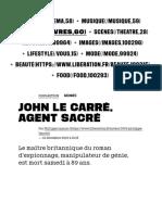 John le Carré, agent sacré - Culture