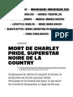 Mort de Charley Pride, superstar noire de la country - Culture