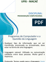 Aula 1 - Introdução a Programação Computacional