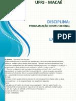Aula 3 - Introdução a Programação Computacional - Exemplos