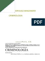 Criminología de Luis Rodríguez Manzanera