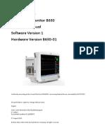 GE Carescape B650 Monitor - Technical manual 2013