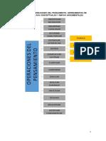 TALLER N° 1 Operaciones del pensamiento. Mapas conceptuales y argumentales