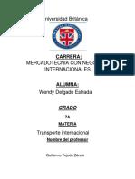 tipos de transportes _wendy delgado estrada_ Transporte Internacional