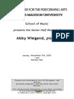 recital program template- wiegand