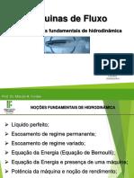 Aula 2 - Noções fundamentais de hidrodinâmica