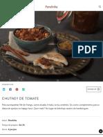 Chutney de tomate - Panelinha