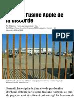 En Inde, l'usine Apple de la discorde - Libération