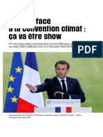 Macron face à la convention climat