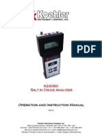 K23050 Salt in Crude Analyser User Manual