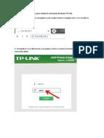 Pasos para cambiar la contraseña del Router TP Link