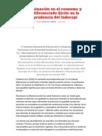 Discriminación en el consumo y trato diferenciado .pdf