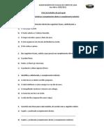 Ficha de trabalho de funções sintáticas CD e CI
