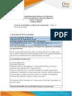 Guia de actividades y Rúbrica de evaluación - Paso  4 Personal Branding.pdf