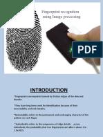 fingerprint recognization using image processing
