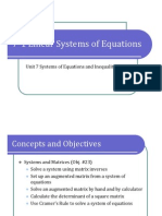 7-1 Linear Systems of Equations (Presentation)