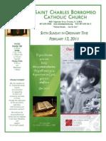 February 13, 2011 Bulletin