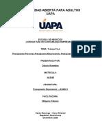 Presupuesto Empresarial - Trabajo Final (Teoria)