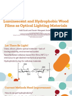 luminescent and hydrophobic wood films as optical lighting materials