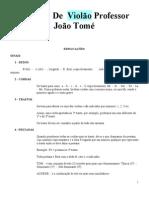 Método DE VIOLAO PROF JOAO TOMÉ