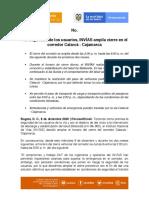 BOLETIN AMPLIACIÓN CIERRE NOCTURNO  CALARCÁ-CAJAMARCA. (v1) DIC 8 2020_revisado