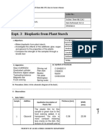 Expt 3 Bioplastic from Plant Starch Lab Data Sheet