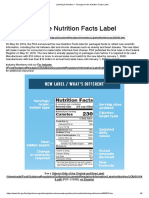 7. Changes to the Nutrition Facts Label