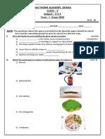 STA-CLASS-5-EVS -TERM-I EXAM QUES PAPER