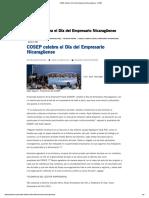 COSEP celebra el Día del Empresario Nicaragüense - COSEP