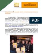 2011-02-13 Comunicado manifestación contra reforma de pensiones