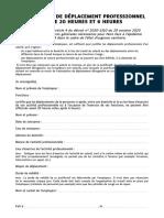 Justificatif de Déplacement Professionnel Du Couvre-feu