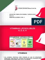 CLASE 06 VITAMINAS LIPOSOLUBLES UPSJB