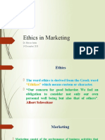 Ethics in Marketing 14 December