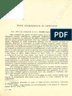 Giuglea, G., Note etimologice si lexicale, Limba romana, An XIV, Nr. 6, 1965, p. 651-669