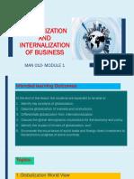 Globalization and Internalization of Business