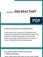 chem - limiting reactant and percent yield
