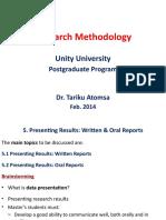 Presentating Results
