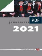 SSB Jahreskalender 2021