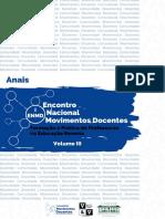 Anais do I Encontro Nacional Movimentos Docentes Vol. III