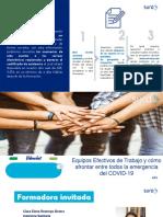 Equipos Efectivos de Trabajo y cómo afrontar entre todos la emergencia del COVID-19