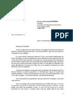 Courrier de JL Gleyze à D Bussereau sur l'accord de méthode