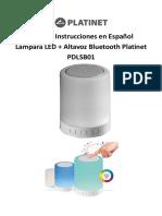 PDLSB01 LAMPARA LED + ALTAVOZ BLUETOOTH Manual español