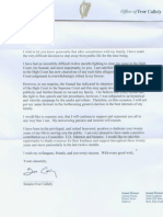 Letter From Ivor Callely