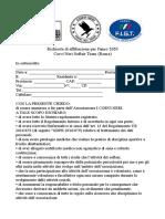 richiesta affiliazione corvi neri 2020