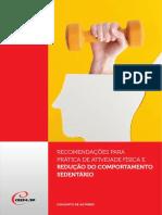 19 - RECOMENDAÇÕES PARA PRÁTICA DE ATIVIDADE FÍSICA E REDUÇÃO DO COMPORTAMENTO SEDENTÁRIO
