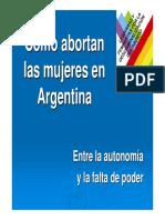 Tercer Informe Linea 2010, Como Abortan Las Mujeres