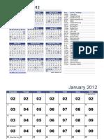 Kalendar rabotno vreme 2012